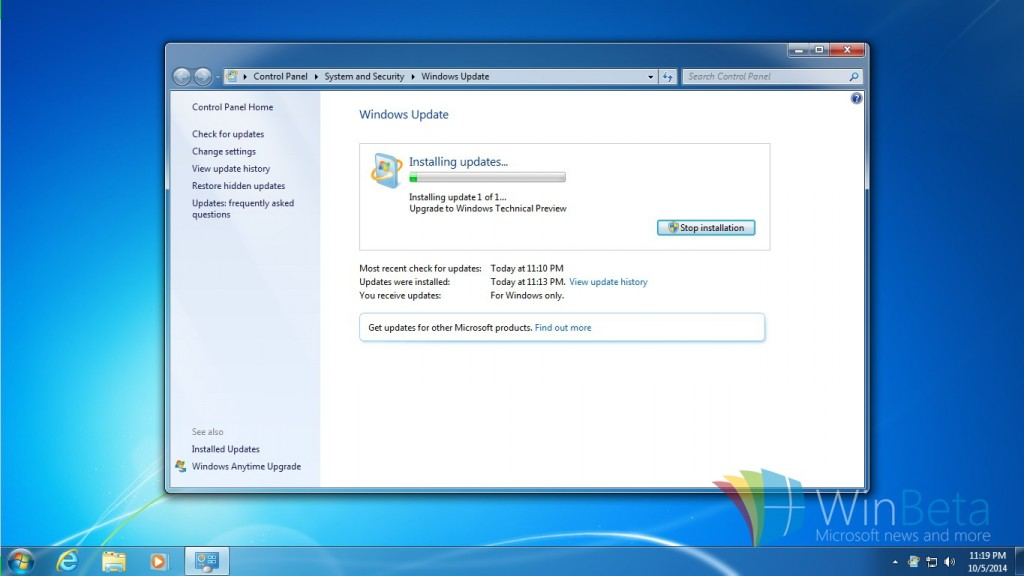 Windows 7 update to Windows 10